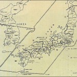 SCAP (Supreme Commander for the Allied Powers) ADMINISTRATIVE AREAS JAPAN AND SOUTH KOREA, 1946